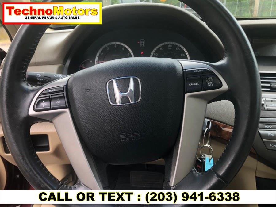 Used Honda Accord Sdn 4dr I4 Auto EX-L 2009   Techno Motors . Danbury , Connecticut
