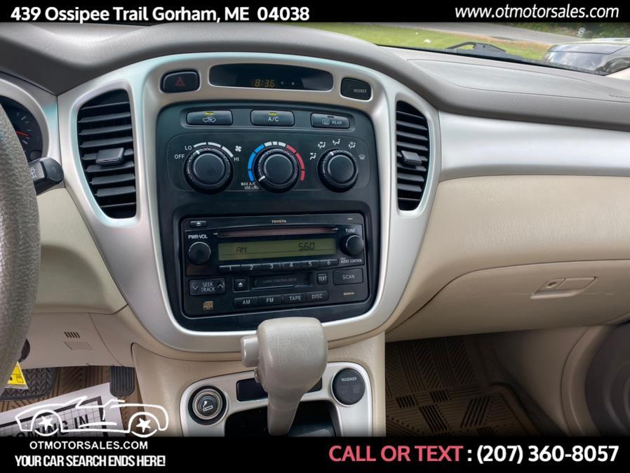 Used Toyota Highlander base 2005 | Ossipee Trail Motor Sales. Gorham, Maine