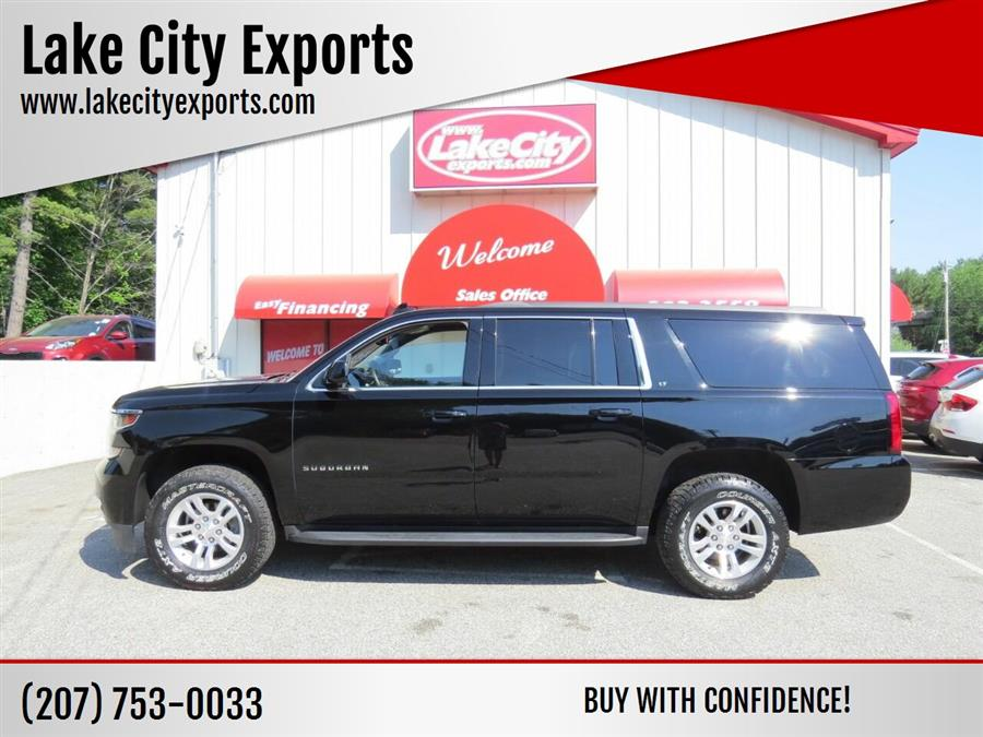 Used Chevrolet Suburban LT 1500 4x4 4dr SUV 2017 | Lake City Exports Inc. Auburn, Maine