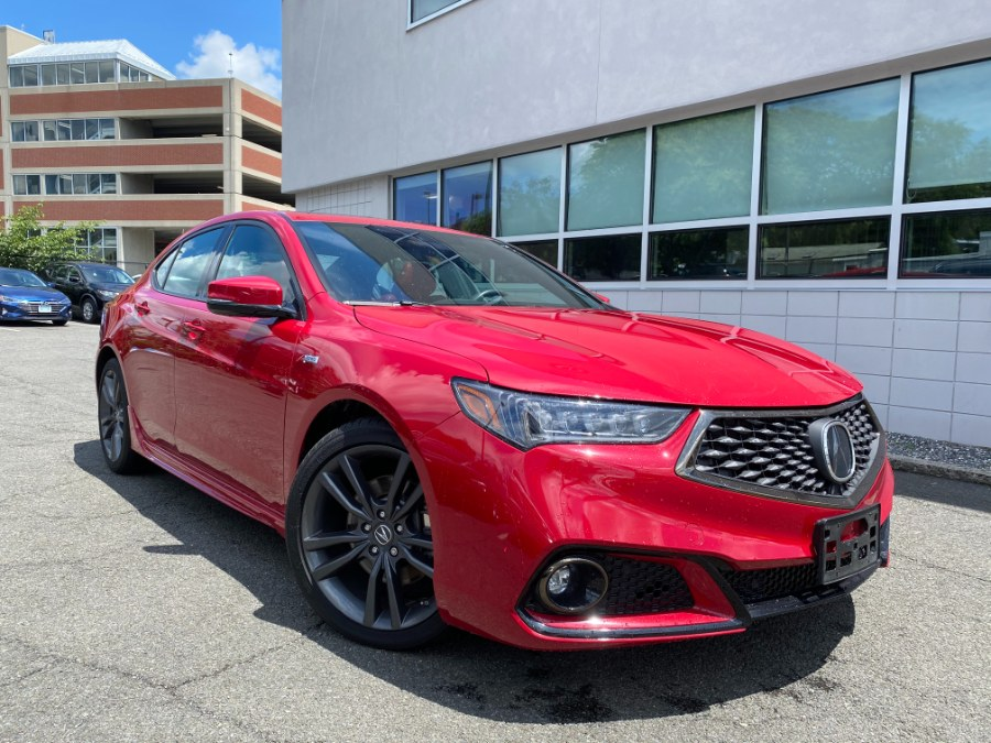 Used Acura TLX 2.4L FWD w/A-Spec Pkg Red Leather 2019 | Apex Westchester Used Vehicles. White Plains, New York