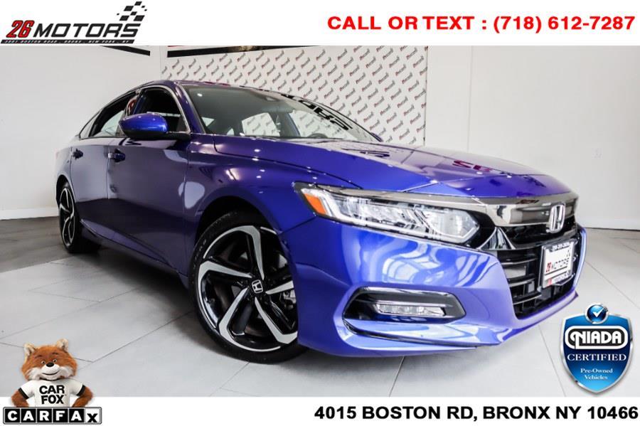 Used Honda Accord Sedan Sport 1.5T CVT 2020   26 Motors Corp. Bronx, New York