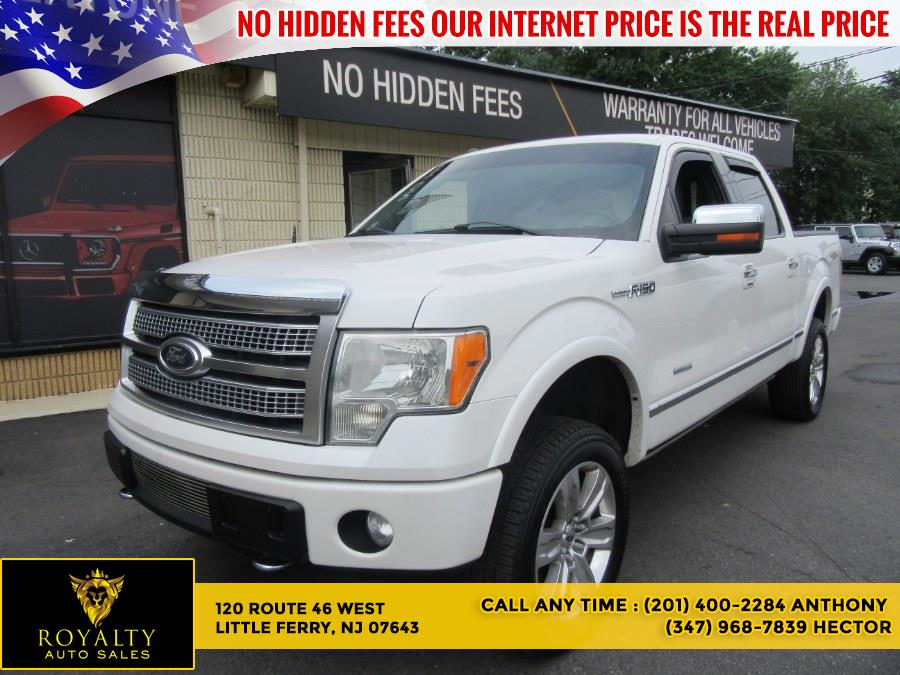 """Used Ford F-150 4WD SuperCrew 145"""" Platinum 2012   Royalty Auto Sales. Little Ferry, New Jersey"""