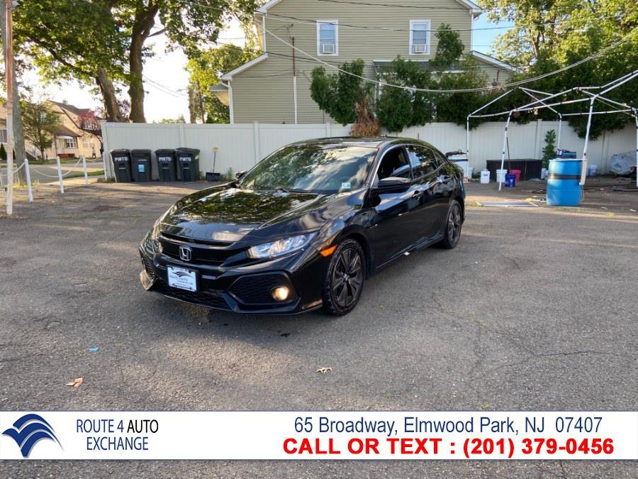 Used Honda Civic Hatchback EX CVT 2018 | Route 4 Auto Exchange. Elmwood Park, New Jersey