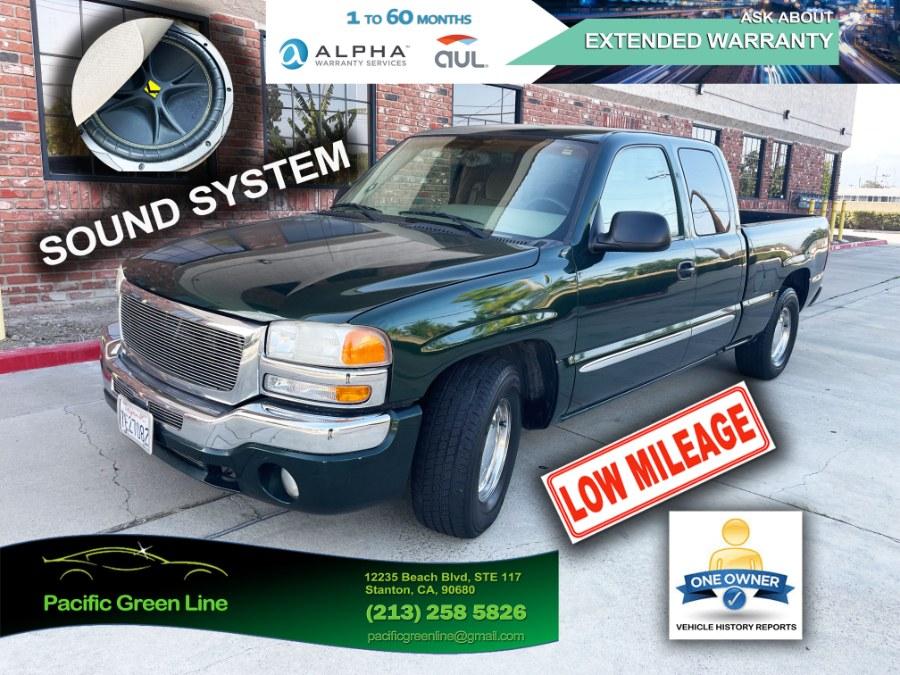 "Used GMC Sierra 1500 Ext Cab 143.5"" WB SLE 2003 | Pacific Green Line. Stanton, California"