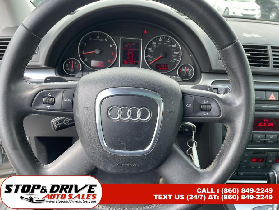 Used Audi A4 4dr Sdn Auto 2.0T quattro 2008   Stop & Drive Auto Sales. East Windsor, Connecticut