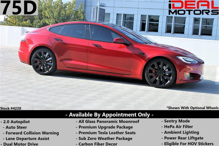 Used Tesla Model s 75D Sedan 4D 2017 | Ideal Motors. Costa Mesa, California