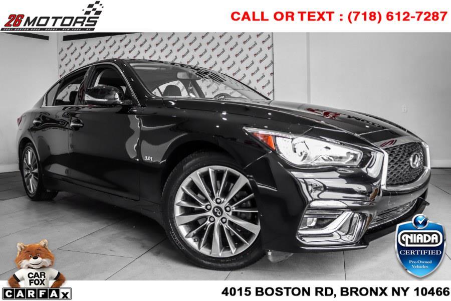 Used INFINITI Q50 3.0t LUXE AWD 2018   26 Motors Corp. Bronx, New York