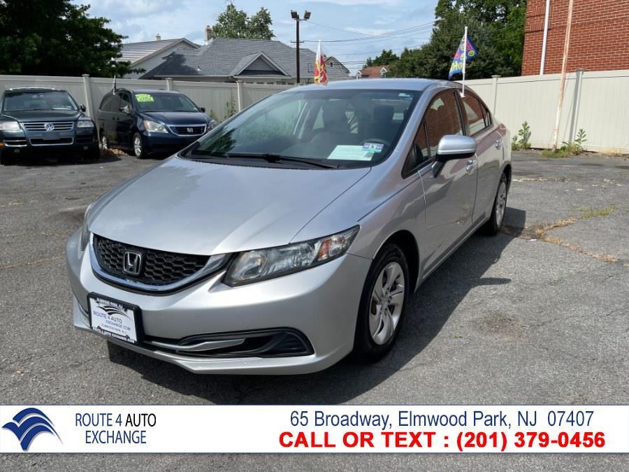 Used Honda Civic Sedan 4dr CVT LX 2014 | Route 4 Auto Exchange. Elmwood Park, New Jersey