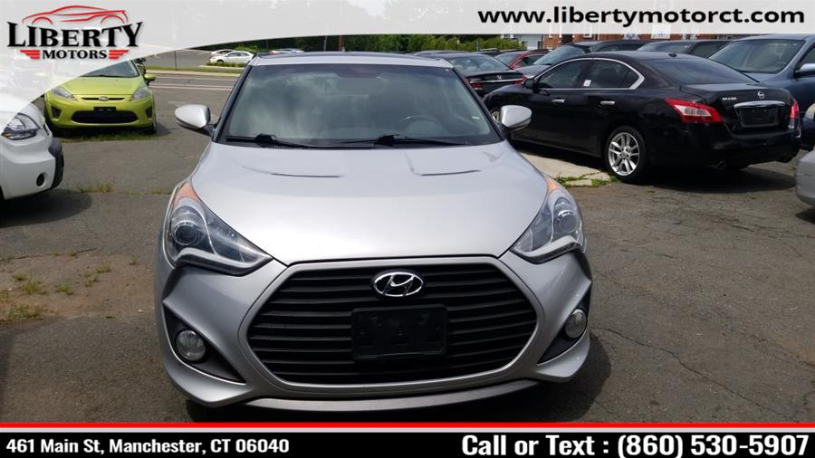 Used Hyundai Veloster 3dr Cpe Man Turbo w/Blue Int 2014 | Liberty Motors. Manchester, Connecticut