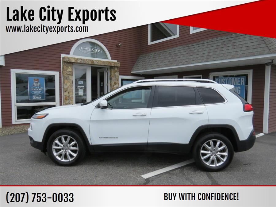 Used Jeep Cherokee Limited 4x4 4dr SUV 2017   Lake City Exports Inc. Auburn, Maine
