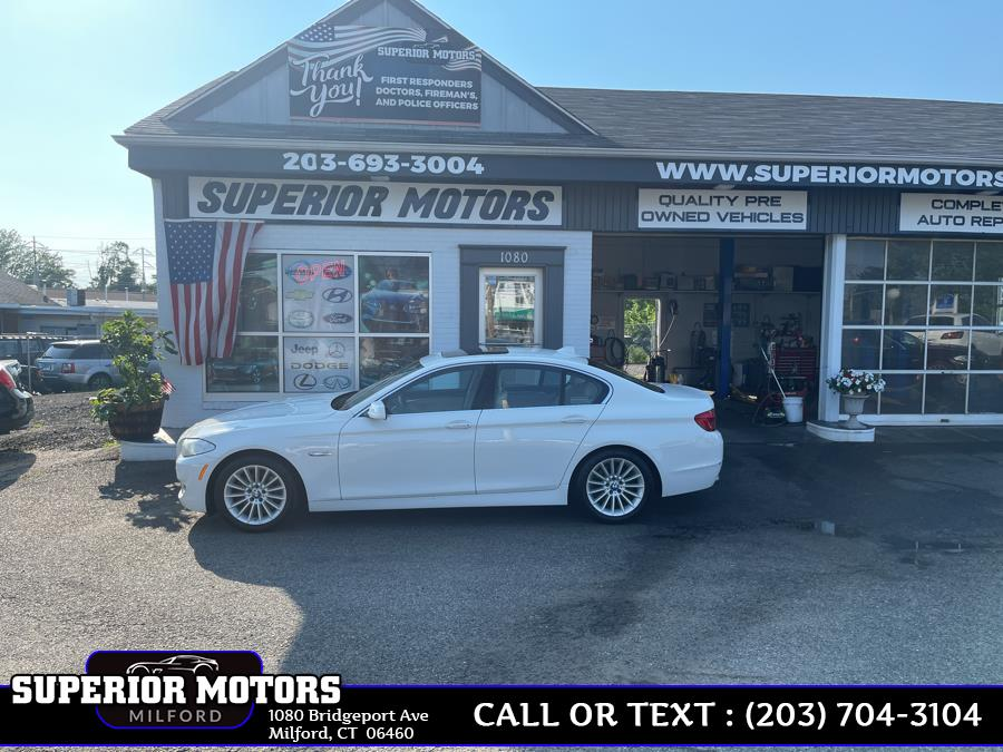 Used 2013 BMW 5 Series LUXURY XDRIVE in Milford, Connecticut   Superior Motors LLC. Milford, Connecticut