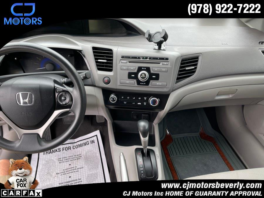 Used Honda Civic Sdn 4dr Auto LX 2012   CJ Motors Inc. Beverly, Massachusetts