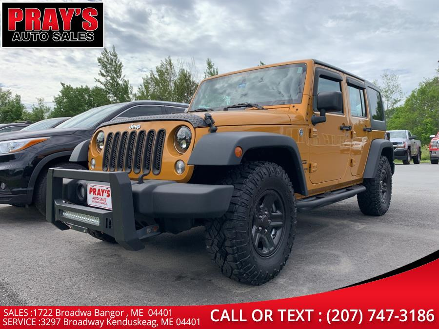 Used Jeep Wrangler Unlimited 4WD 4dr Willys Wheeler 2014   Pray's Auto Sales . Bangor , Maine