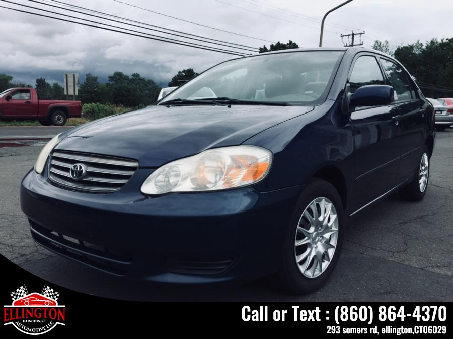 Used 2003 Toyota Corolla 4dr Sdn CE Auto Toyota Used 2003 Toyota Corolla 4dr Sdn CE Auto for sale in Ellington, CT In stock