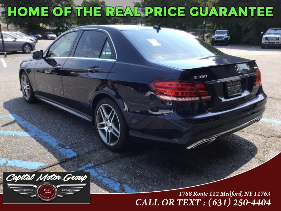 Used Mercedes-Benz E-Class 4dr Sdn E 350 Luxury 4MATIC 2016 | Capital Motor Group Inc. Medford, New York