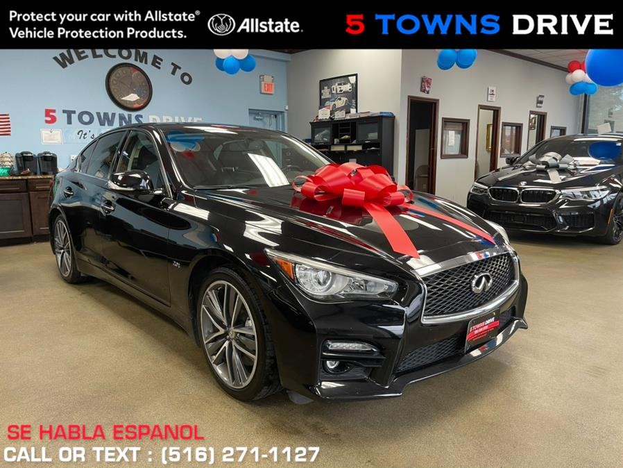 Used INFINITI Q50 2.0t Premium AWD 2017 | 5 Towns Drive. Inwood, New York