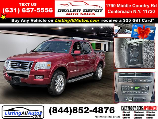 Used Ford Explorer Sport Trac 4WD 4dr V6 Limited 2007 | www.ListingAllAutos.com. Patchogue, New York