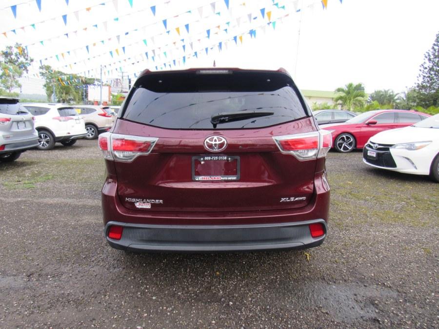 Used Toyota Highlander AWD 4dr V6 XLE (Natl) 2015 | Hilario Auto Import. San Francisco de Macoris Rd, Dominican Republic