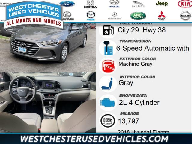 Used Hyundai Elantra SE 2018 | Westchester Used Vehicles. White Plains, New York