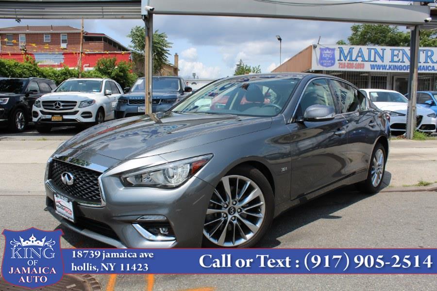 Used INFINITI Q50 3.0t LUXE AWD 2018 | King of Jamaica Auto Inc. Hollis, New York