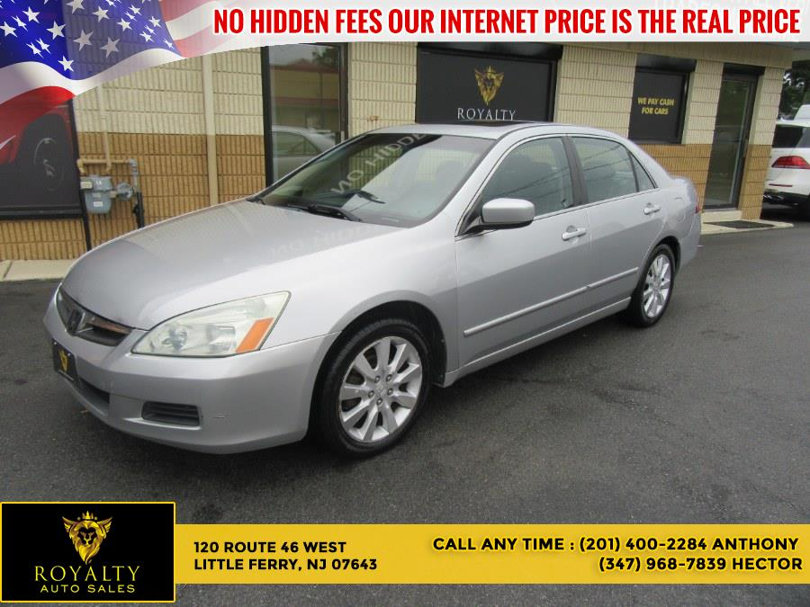 Used Honda Accord Sdn EX-L V6 AT ULEV 2006   Royalty Auto Sales. Little Ferry, New Jersey