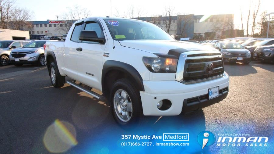 Used Toyota Tundra 4WD Truck Double Cab 5.7L V8 6-Spd AT (Natl) 2012 | Inman Motors Sales. Medford, Massachusetts