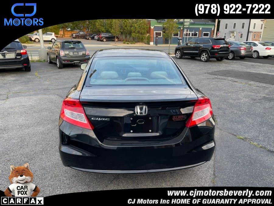 Used Honda Civic Cpe 2dr Auto LX 2013   CJ Motors Inc. Beverly, Massachusetts