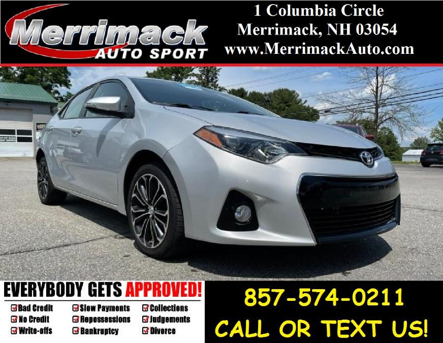 Used Toyota Corolla 4dr Sdn CVT S Plus (Natl) 2015   Merrimack Autosport. Merrimack, New Hampshire