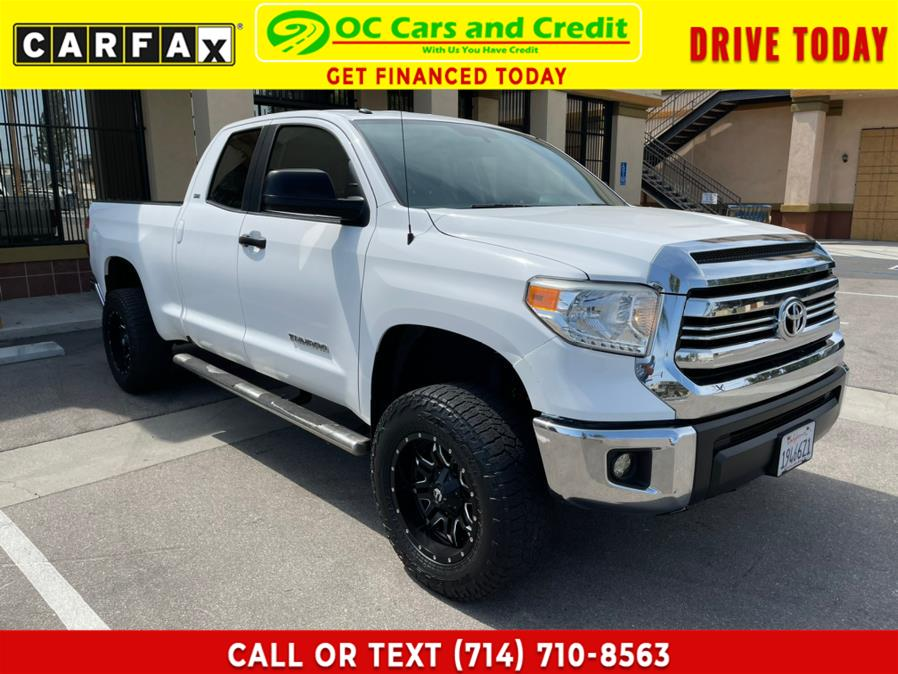 Used Toyota Tundra 2WD Truck Double Cab 4.6L V8 6-Spd AT SR5 (Natl) 2016 | OC Cars and Credit. Garden Grove, California