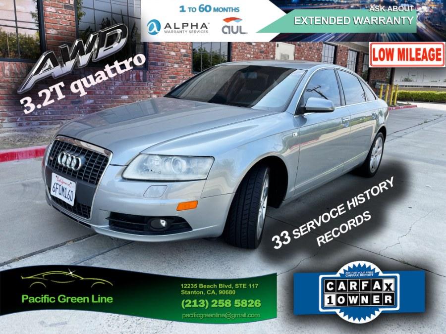 Used Audi A6 4dr Sdn 3.2L quattro *Ltd Avail* 2008 | Pacific Green Line. Stanton, California