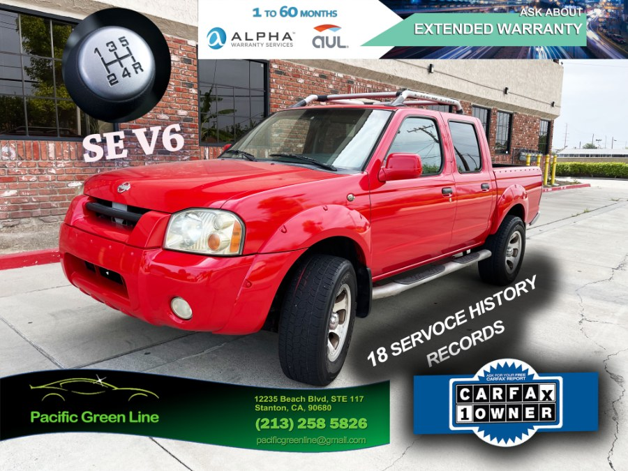 Used Nissan Frontier 2WD SE Crew Cab V6 Manual w/Leather 2001 | Pacific Green Line. Stanton, California