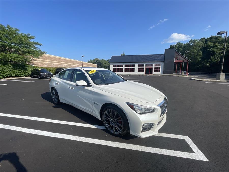 Used INFINITI Q50 Red Sport 400 AWD 2017 | Wiz Leasing Inc. Stratford, Connecticut