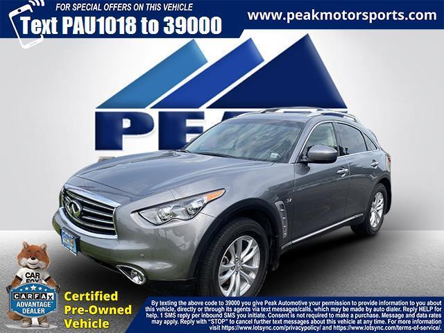 Used INFINITI QX70 AWD 4dr 2015 | Peak Automotive Inc.. Bayshore, New York