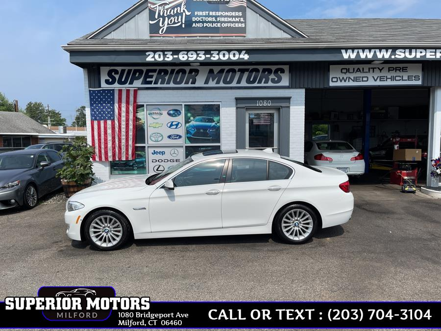 Used 2013 BMW 5 Series LUXURY AWD in Milford, Connecticut   Superior Motors LLC. Milford, Connecticut