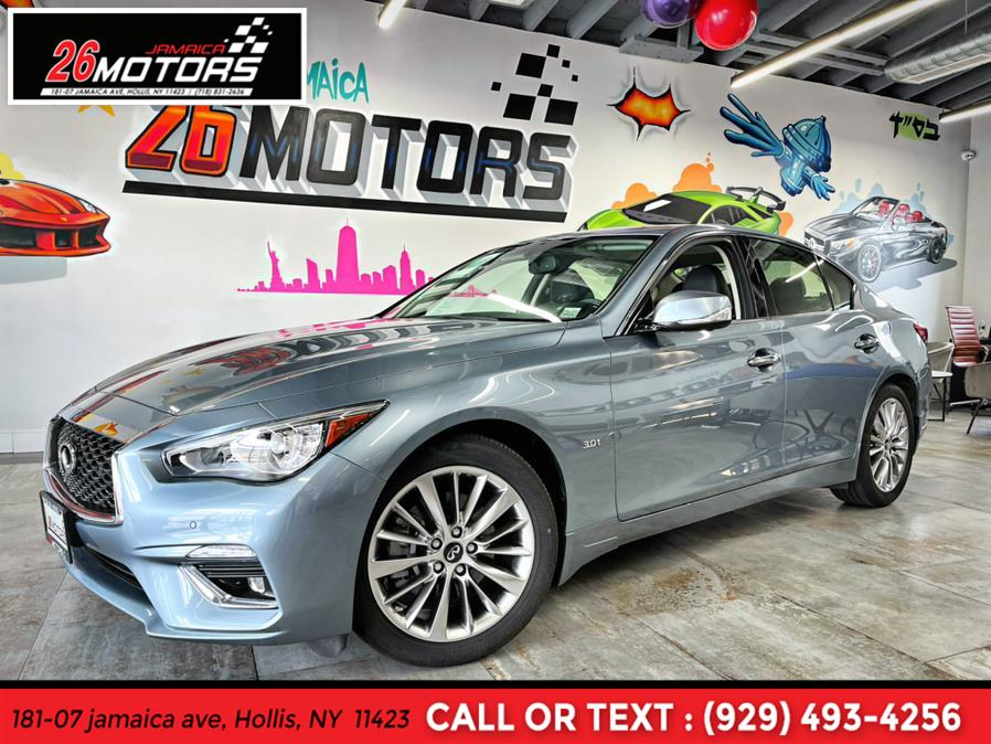 2018 INFINITI Q50 LUXE 3.0t LUXE AWD, available for sale in Hollis, NY