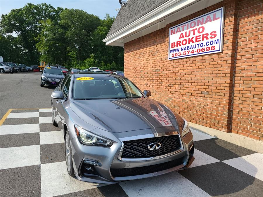 Used INFINITI Q50 3.0t LUXE AWD 2018   National Auto Brokers, Inc.. Waterbury, Connecticut