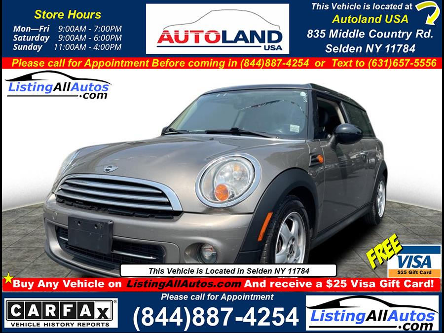 Used 2011 Mini Cooper Clubman in Patchogue, New York | www.ListingAllAutos.com. Patchogue, New York