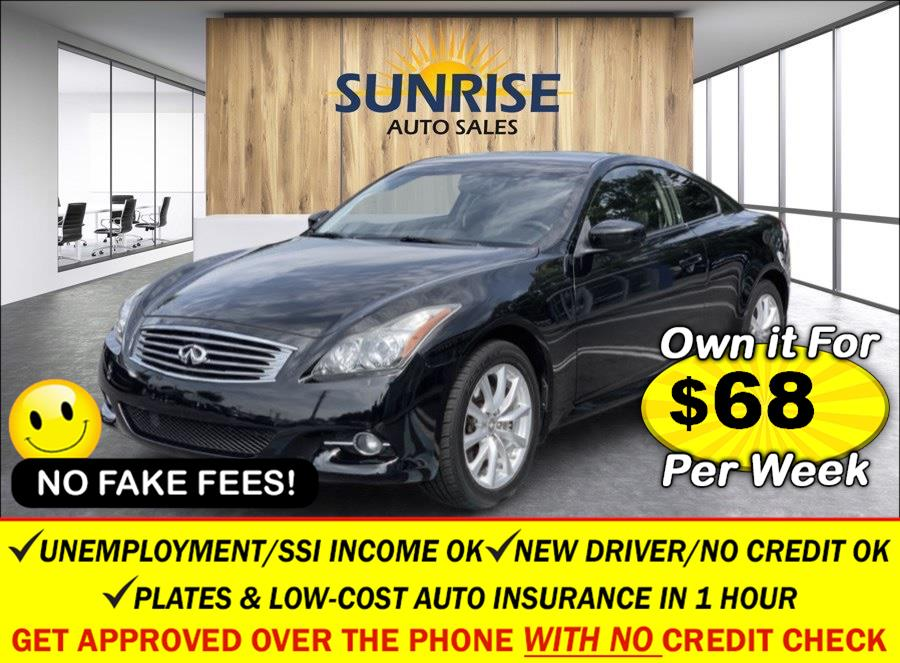 Used Infiniti G37 Coupe 2dr x AWD 2013 | Sunrise Auto Sales. Rosedale, New York