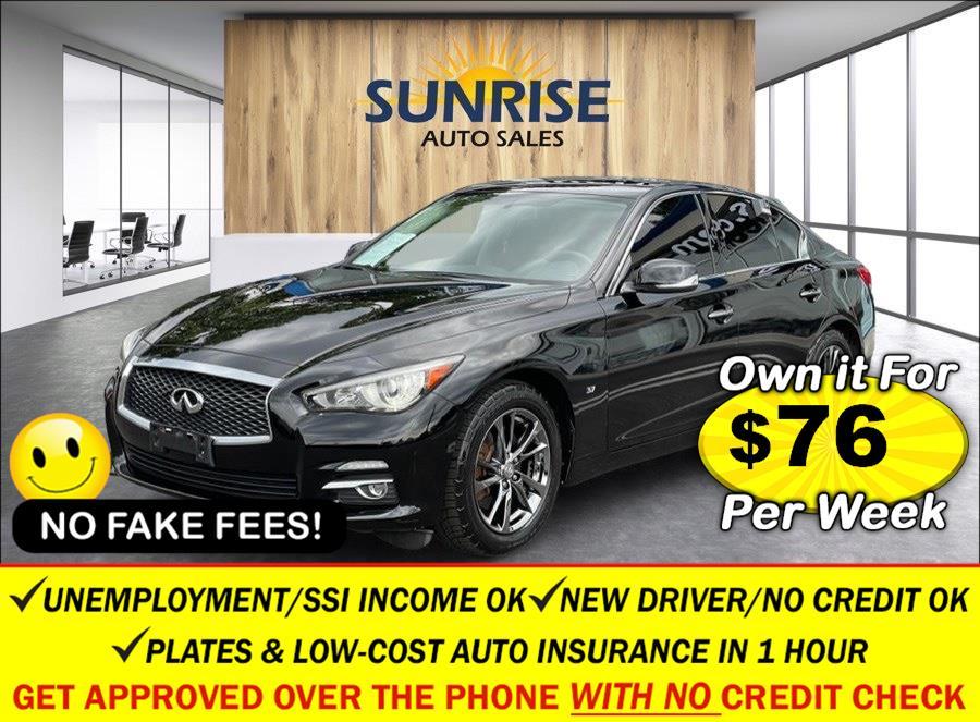 Used INFINITI Q50 4dr Sdn AWD 2015 | Sunrise Auto Sales. Rosedale, New York