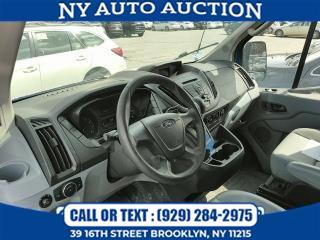 "Used Ford Transit Cargo Van T-250 148"" Med Rf 9000 GVWR Sliding RH Dr 2015   NY Auto Auction. Brooklyn, New York"