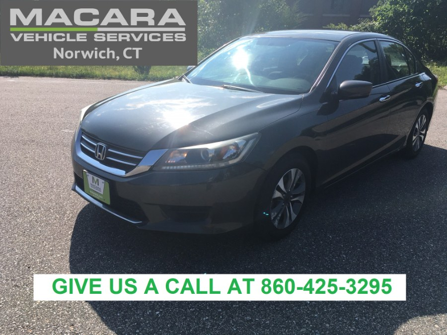 2013 Honda Accord Sdn 4dr I4 CVT LX, available for sale in Norwich, CT