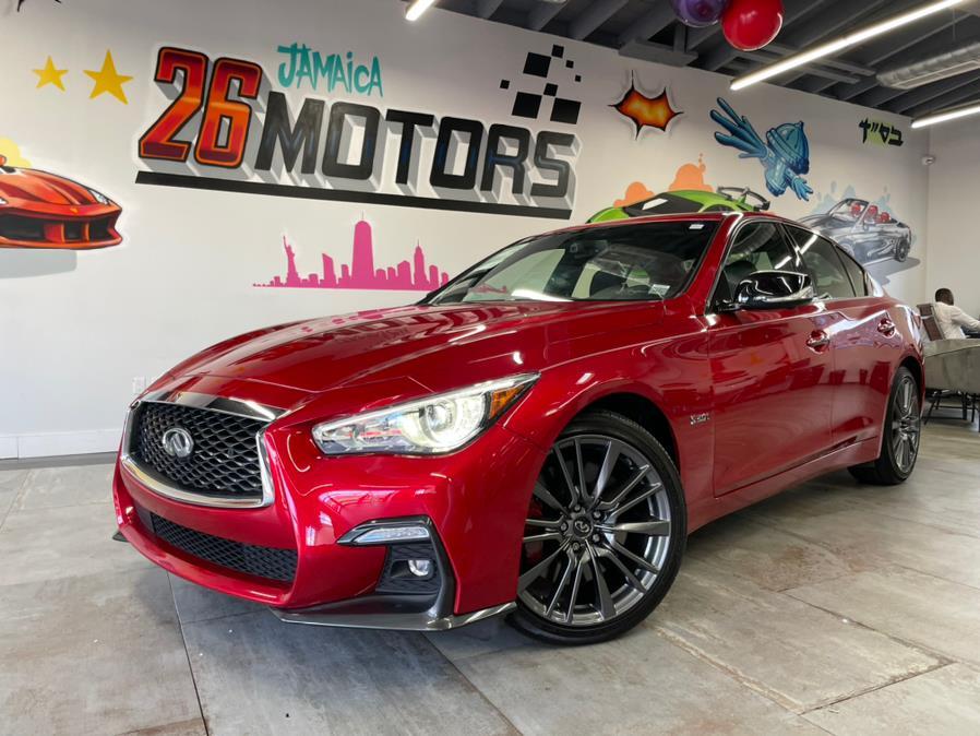 Used 2018 INFINITI Q50 Red Sport in Hollis, New York | Jamaica 26 Motors. Hollis, New York