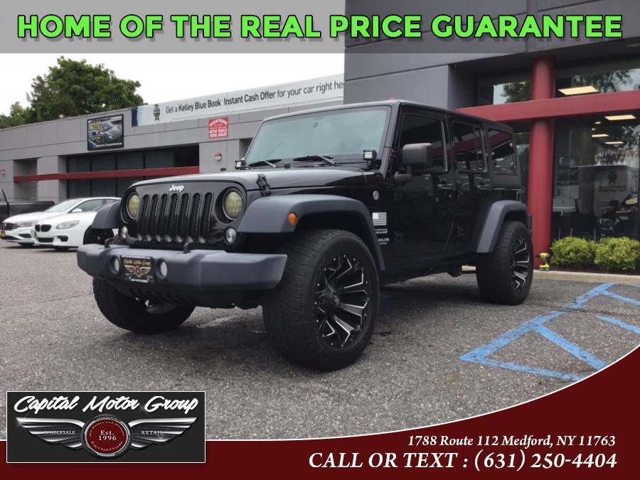 Used Jeep Wrangler Unlimited 4WD 4dr Sport 2016   Capital Motor Group Inc. Medford, New York