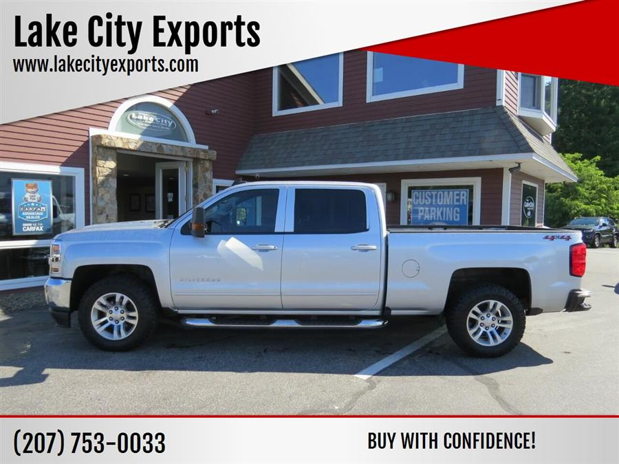 Used Chevrolet Silverado 1500 LT 4x4 4dr Crew Cab 5.8 ft. SB 2018 | Lake City Exports Inc. Auburn, Maine