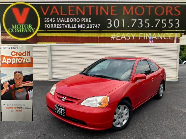 Used Honda Civic EX 2002   Valentine Motor Company. Forestville, Maryland