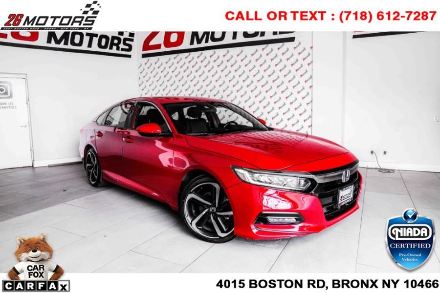 Used Honda Accord Sedan Sport 1.5T CVT 2018 | 26 Motors Corp. Bronx, New York