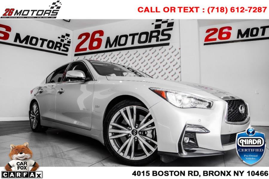 Used INFINITI Q50 3.0t LUXE RWD 2018   26 Motors Corp. Bronx, New York