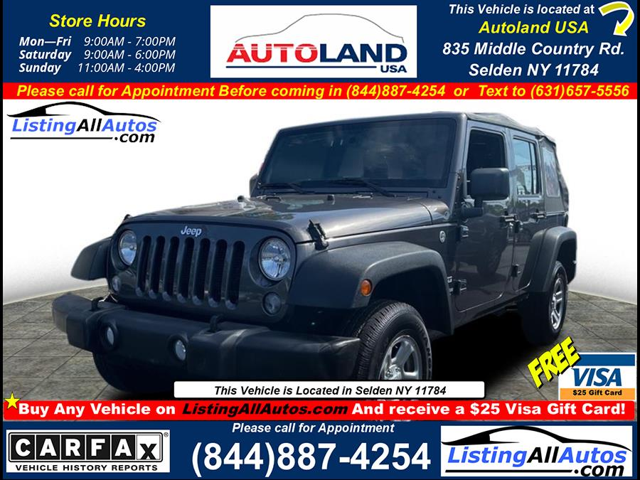 Used 2016 Jeep Wrangler Unlimited in Patchogue, New York | www.ListingAllAutos.com. Patchogue, New York