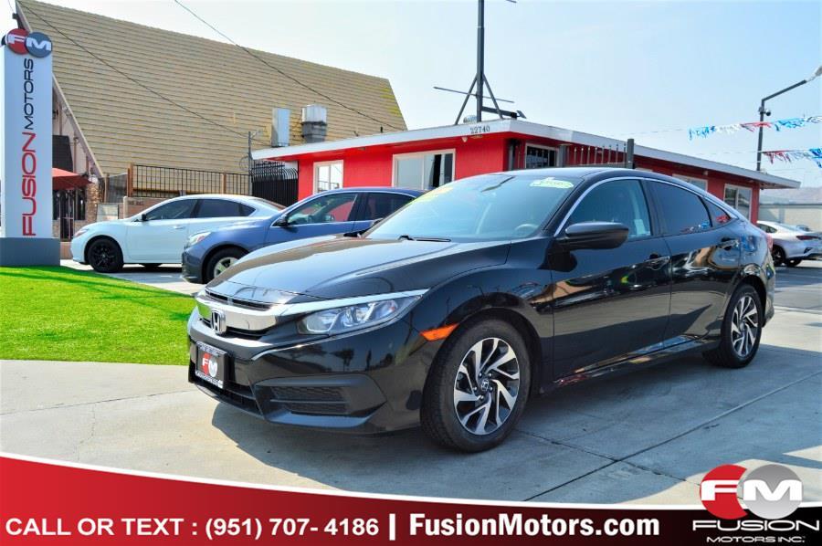 Used Honda Civic Sedan EX CVT 2017   Fusion Motors Inc. Moreno Valley, California