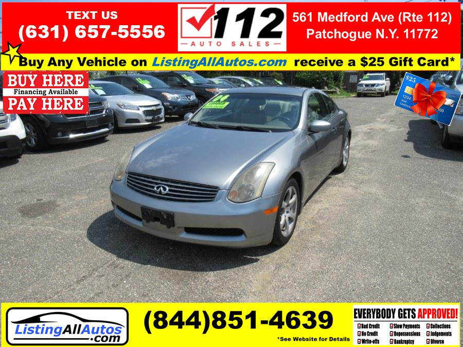 Used 2004 Infiniti G35 Coupe in Patchogue, New York | www.ListingAllAutos.com. Patchogue, New York